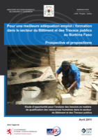 Pour une meilleure adéquation emploi / formation dans le secteur du Bâtiment et des Travaux publics au Burkina Faso