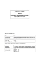 VIE/024 - Strengthening the Management of Vietnam's National Blood cold Chain