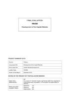 VIE/026 - Development of the Capital Markets